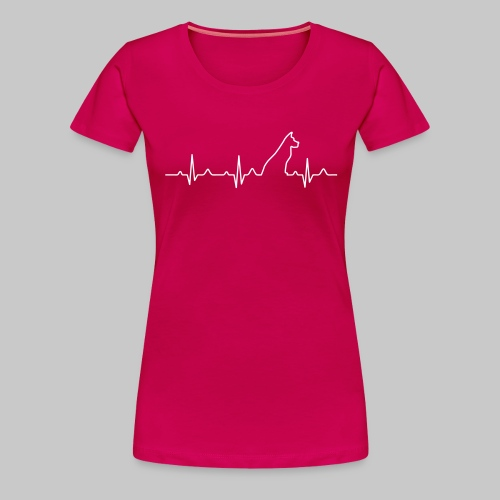 Dog Heartbeat 2 - Frauen Premium T-Shirt