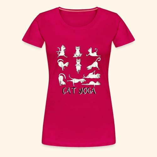 Katzen Yoga Fitness - Mantra - Karma - Miau - Cat - Frauen Premium T-Shirt