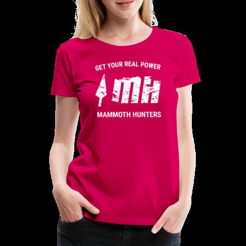 Mammoth Hunters / Blanco - Camiseta premium mujer