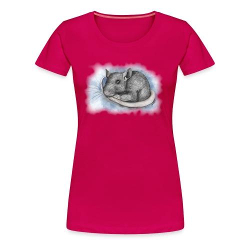 Rottapiirros - Värikuva - Naisten premium t-paita