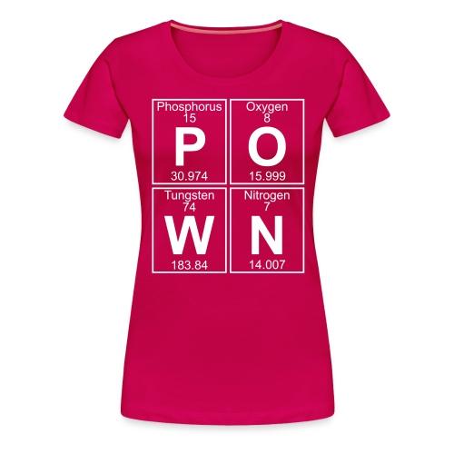 P-O-W-N (pown) - Full - Women's Premium T-Shirt