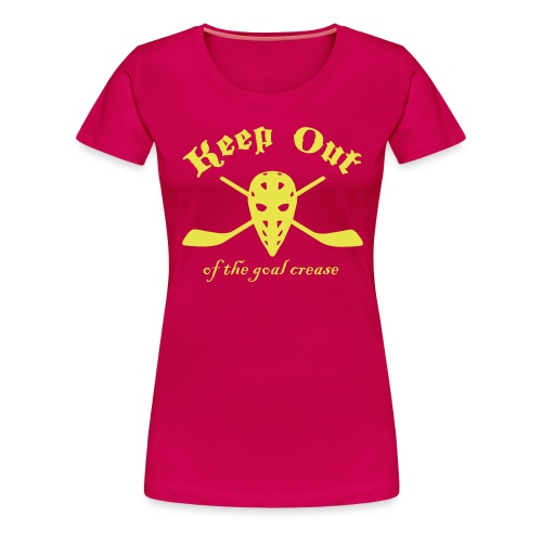 Keep Out Of The Goal Crease (Ice Hockey) - Women's Premium T-Shirt