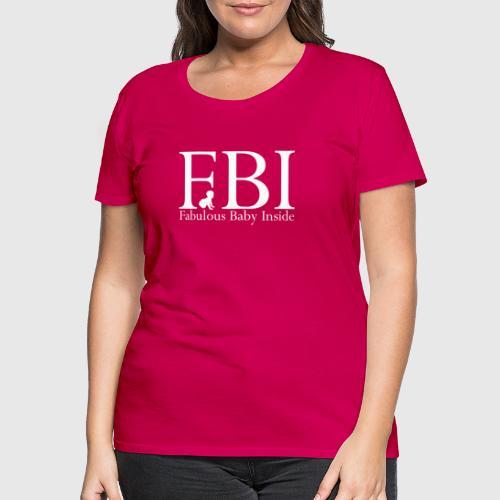 fbi white png - Dame premium T-shirt