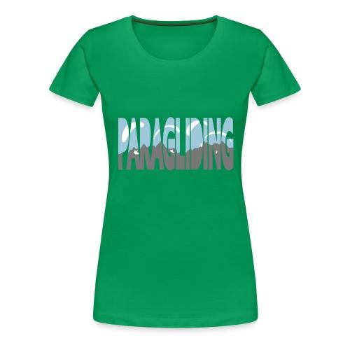 Paragliding Letters - Women's Premium T-Shirt