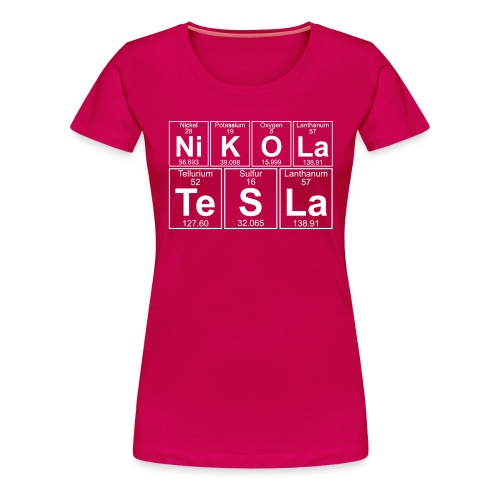 Ni-K-O-La Te-S-La (nikola_tesla) - Full - Women's Premium T-Shirt