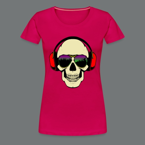 skull dj - Women's Premium T-Shirt
