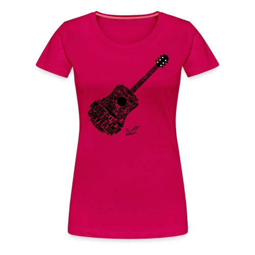 guitar with sig slanted02 - Women's Premium T-Shirt