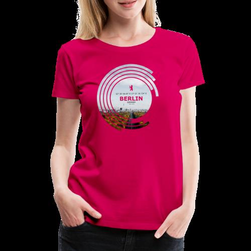 Berlin City Skyline Geometrische Form Kreis - Frauen Premium T-Shirt