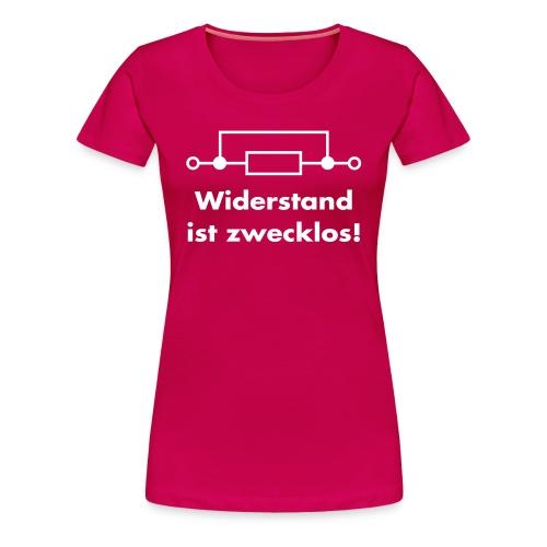 widerstand01 - Frauen Premium T-Shirt