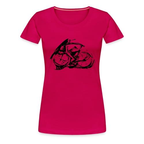 futuristischer radfahrer - Frauen Premium T-Shirt