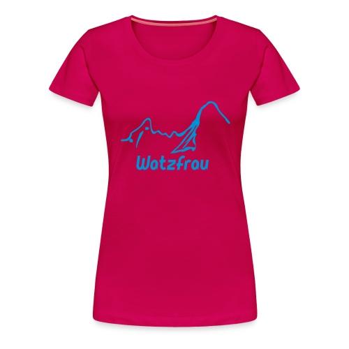 Watzfrau - Frauen Premium T-Shirt