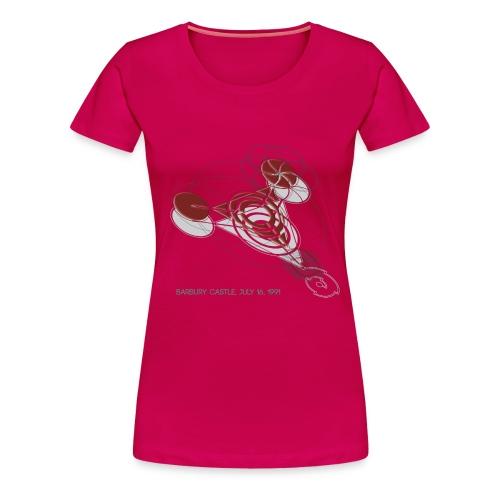 Kornkreis Barbury Castle 1991 Red - Frauen Premium T-Shirt