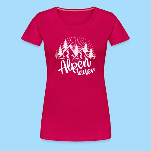 Alpenteuer - Frauen Premium T-Shirt