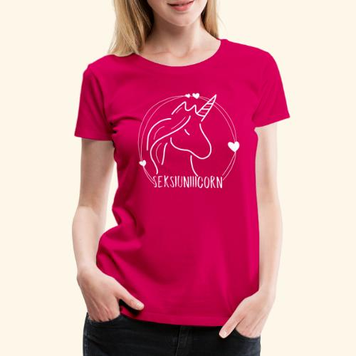Seksiuniiicorn WEISS - Frauen Premium T-Shirt