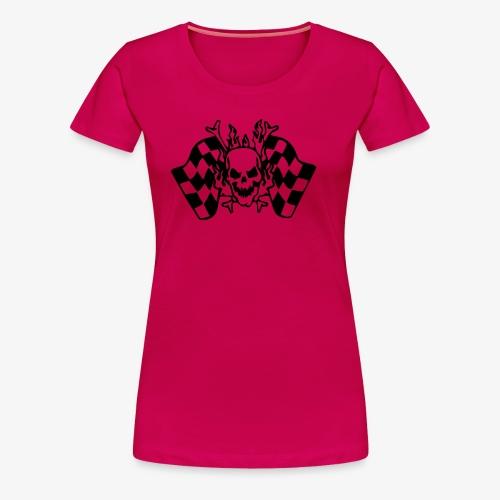 Racing Skull - Frauen Premium T-Shirt