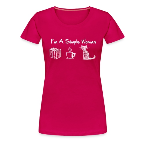 Vorschau: simple woman cat books - Frauen Premium T-Shirt