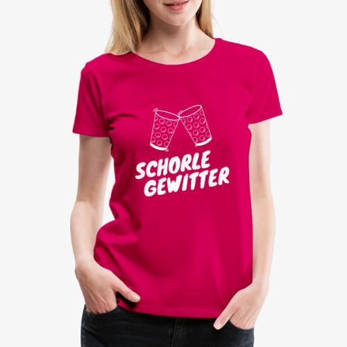 Schorlegewitter - Dubbeglas - Weinschorle - Pfalz - Frauen Premium T-Shirt
