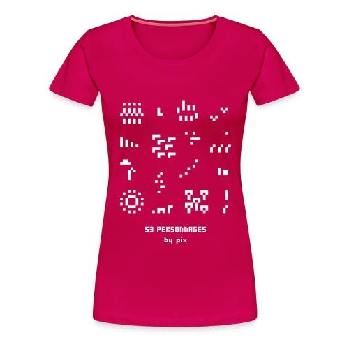 53 personnages - T-shirt Premium Femme