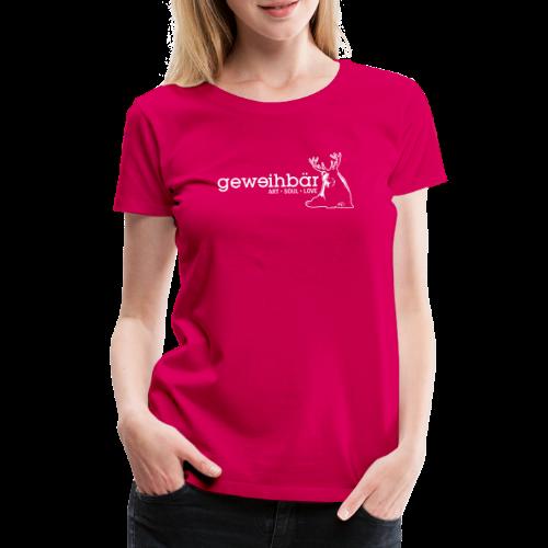 geweihbär - weiss - Frauen Premium T-Shirt