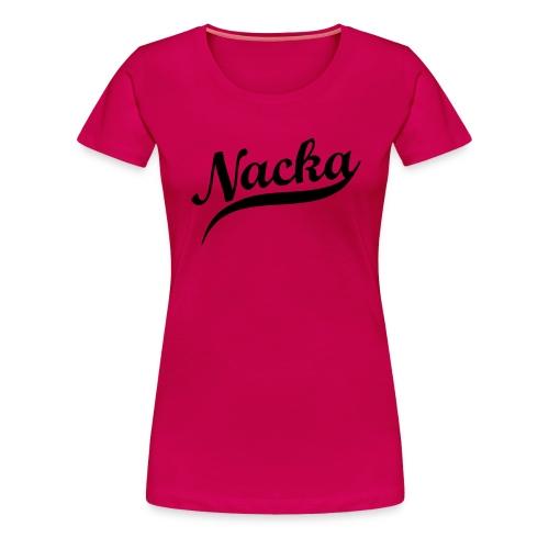 nacka retro - Premium-T-shirt dam