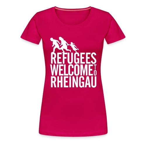 Refugees Welcome to Rheingau Handyhülle 4/4s Rosa - Frauen Premium T-Shirt