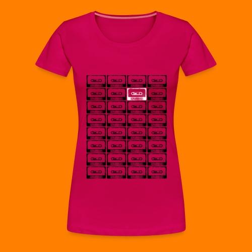 32 cassettes 1 white - Women's Premium T-Shirt