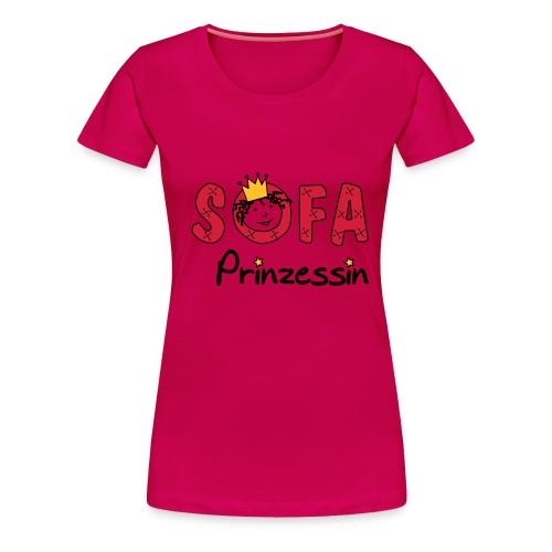 Sofaprinzessin Schriftzug - Frauen Premium T-Shirt