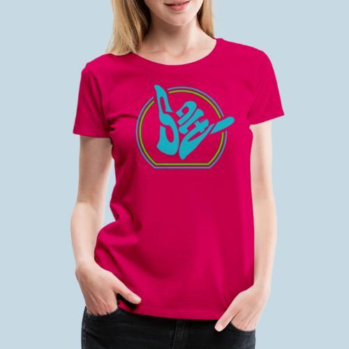 Handzeichen Shaka - Frauen Premium T-Shirt