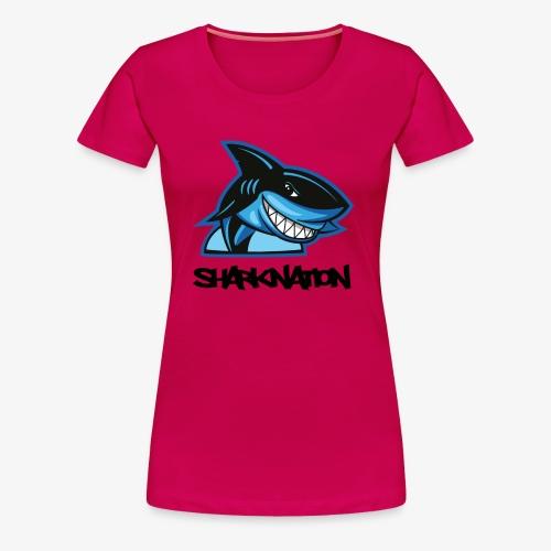 SHARKNATION / Schwarze Buchstaben - Frauen Premium T-Shirt