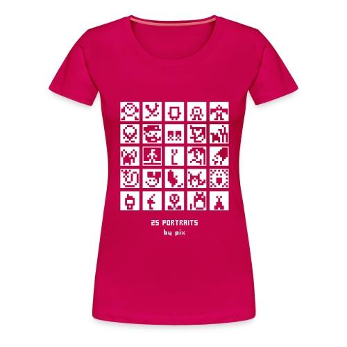 25 portraits - T-shirt Premium Femme