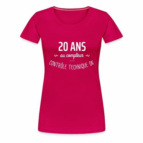 20 ans au compteur - T-shirt Premium Femme