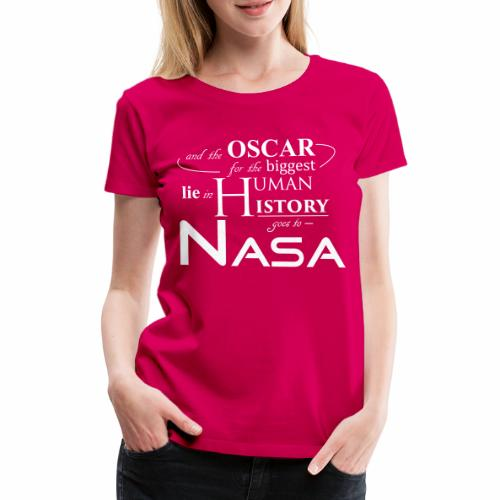 Flat Earth Nasa - Frauen Premium T-Shirt