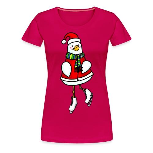 Xmas ice skating chick - Women's Premium T-Shirt