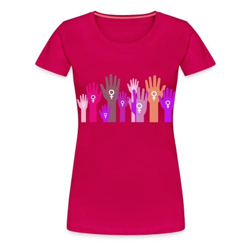 Manos unidas de mujer. - Camiseta premium mujer