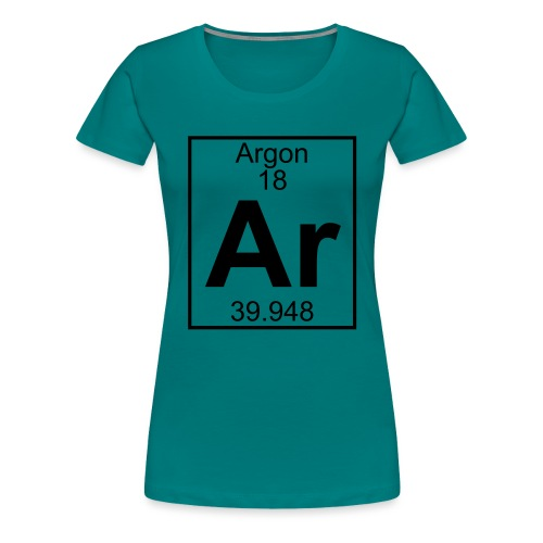 Argon (Ar) (element 18) - Women's Premium T-Shirt