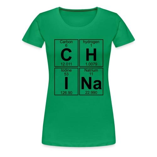 C-H-I-Na (china) - Full - Women's Premium T-Shirt