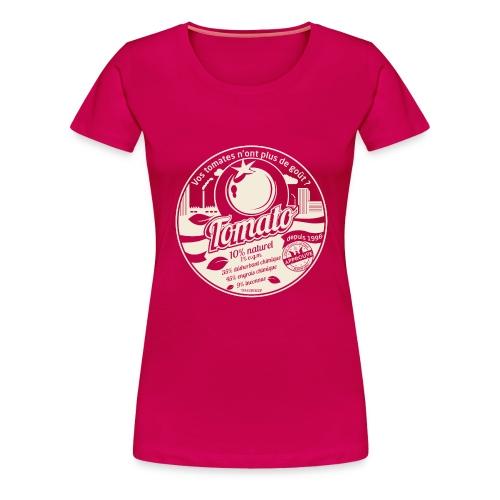 europabio tomato blanc - T-shirt Premium Femme