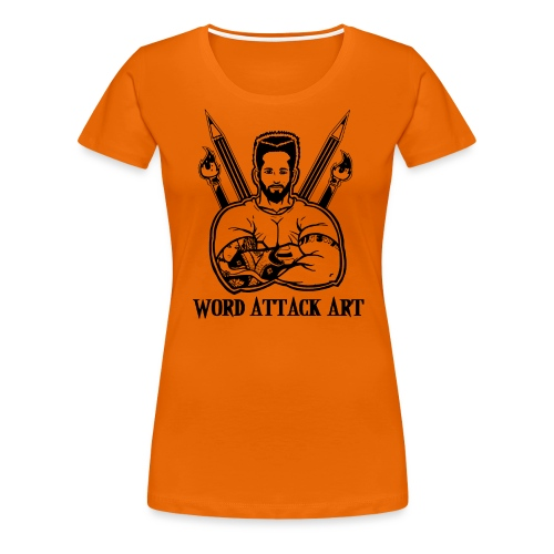 Word Attack Art - Frauen Premium T-Shirt