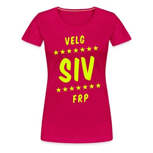 Velg Siv - Premium T-skjorte for kvinner