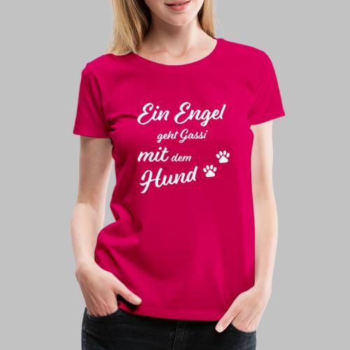 EIN ENGEL GEHT GASSI MIT DEM HUND - V2 - Black - Frauen Premium T-Shirt