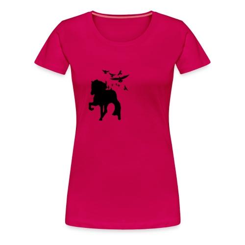 Tölter mit Vögeln - Frauen Premium T-Shirt