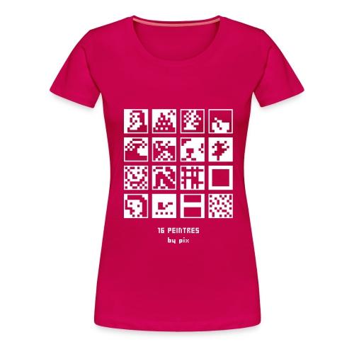 16 peintres - T-shirt Premium Femme