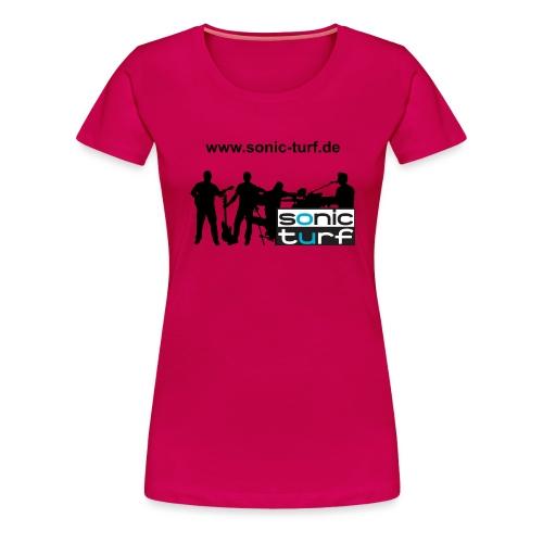 bandkollage schriftoben - Frauen Premium T-Shirt