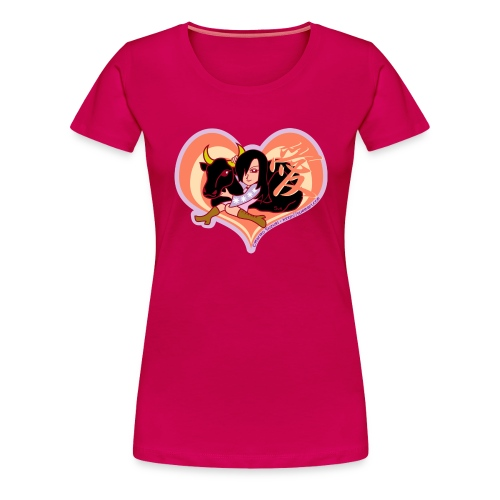 Girl and Ox (Love) - Women's Premium T-Shirt