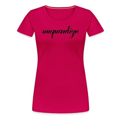 unquantize black logo - Women's Premium T-Shirt