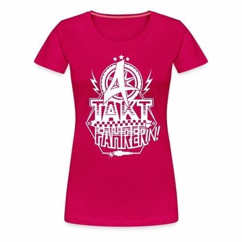 4-Takt-Fahrerin / Viertaktfahrerin - Women's Premium T-Shirt