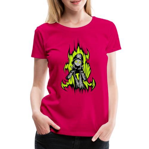 KRASS mit Flamme - Frauen Premium T-Shirt