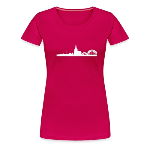 Köln-Skyline - Frauen Premium T-Shirt