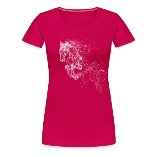 Vorschau: jumping horse white - Frauen Premium T-Shirt