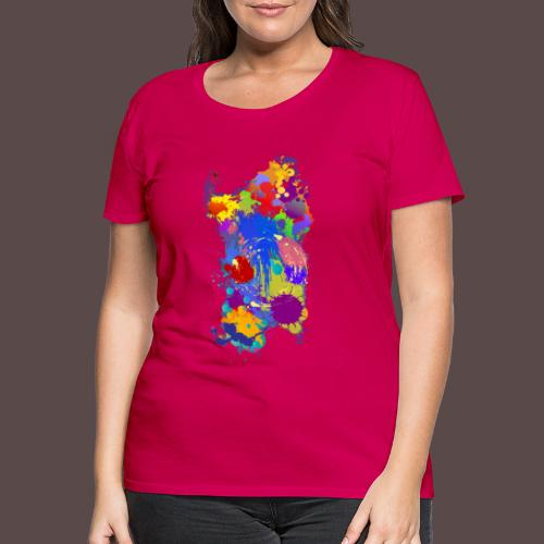 Sardegna Silhouette Paint - Maglietta Premium da donna